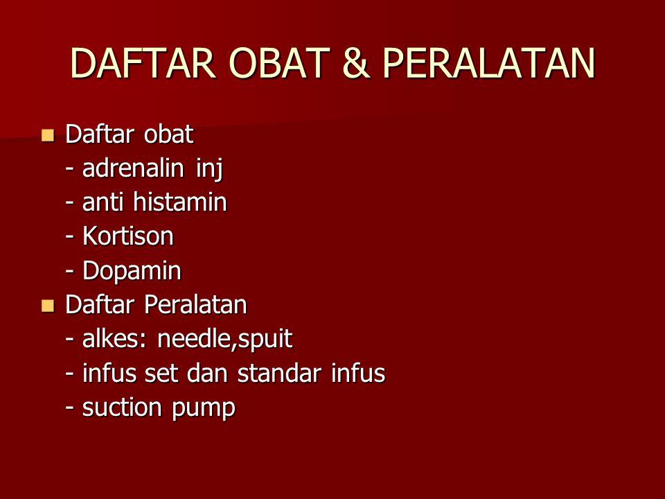 DAFTAR OBAT & PERALATAN