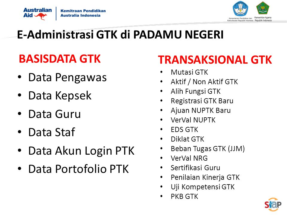 E-Administrasi GTK di PADAMU NEGERI