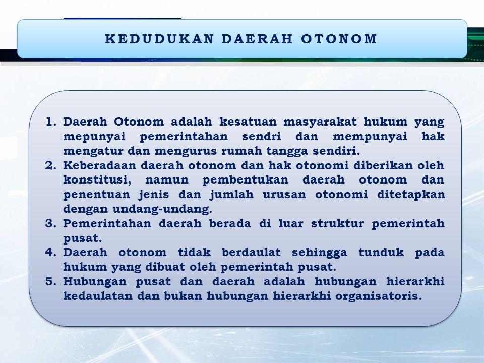 KEDUDUKAN DAERAH OTONOM