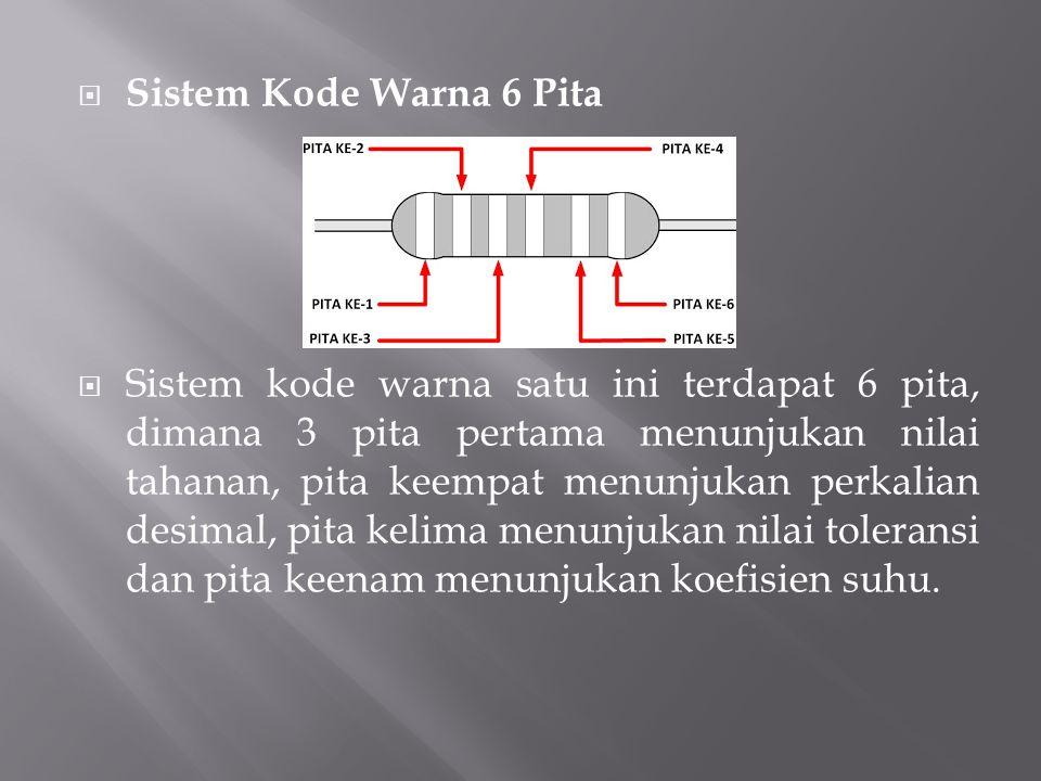 Sistem Kode Warna 6 Pita