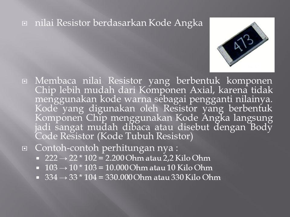 nilai Resistor berdasarkan Kode Angka