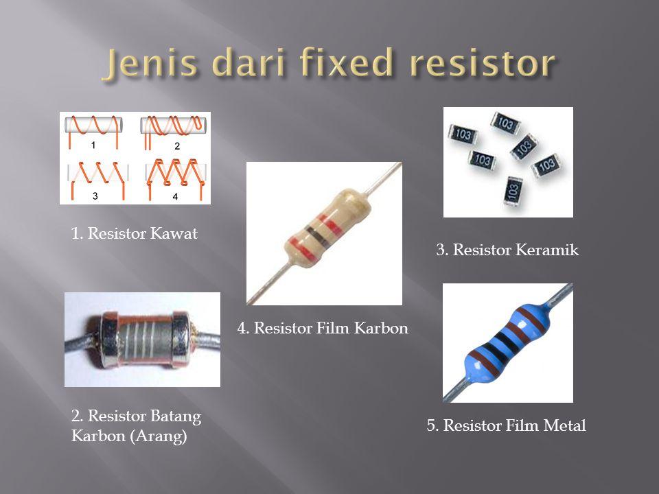 Jenis dari fixed resistor