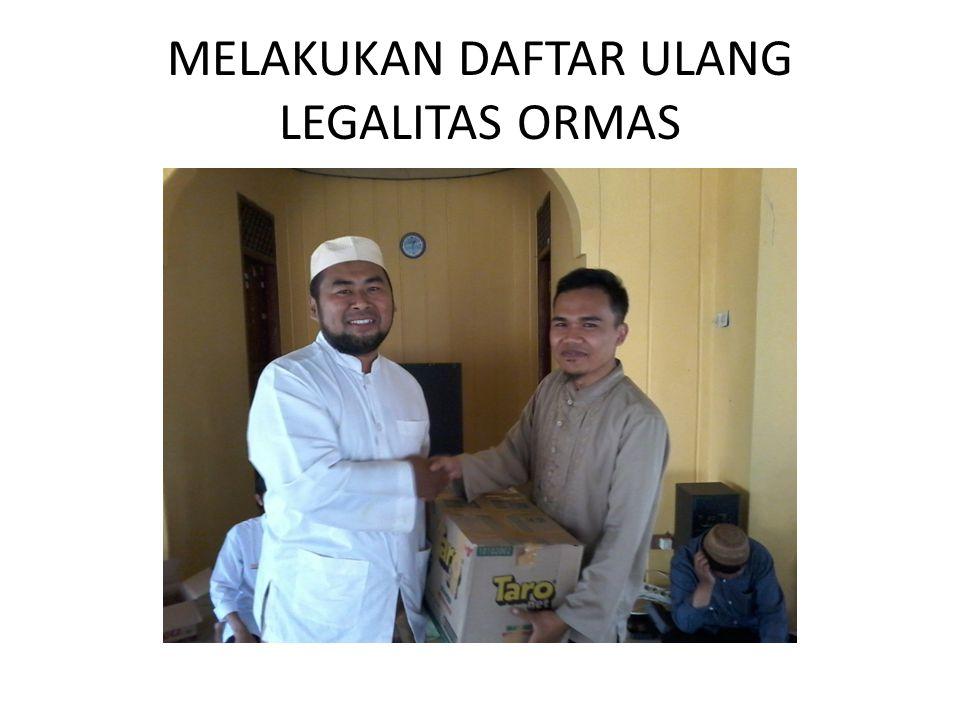 MELAKUKAN DAFTAR ULANG LEGALITAS ORMAS