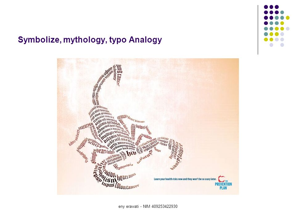 Symbolize, mythology, typo Analogy