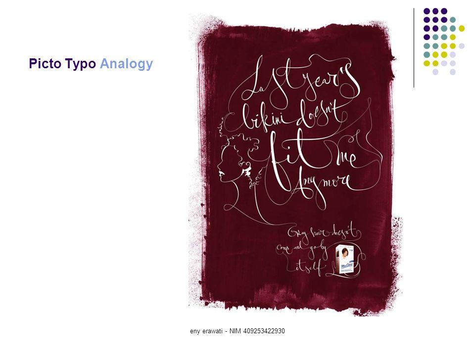 Picto Typo Analogy eny erawati - NIM 409253422930