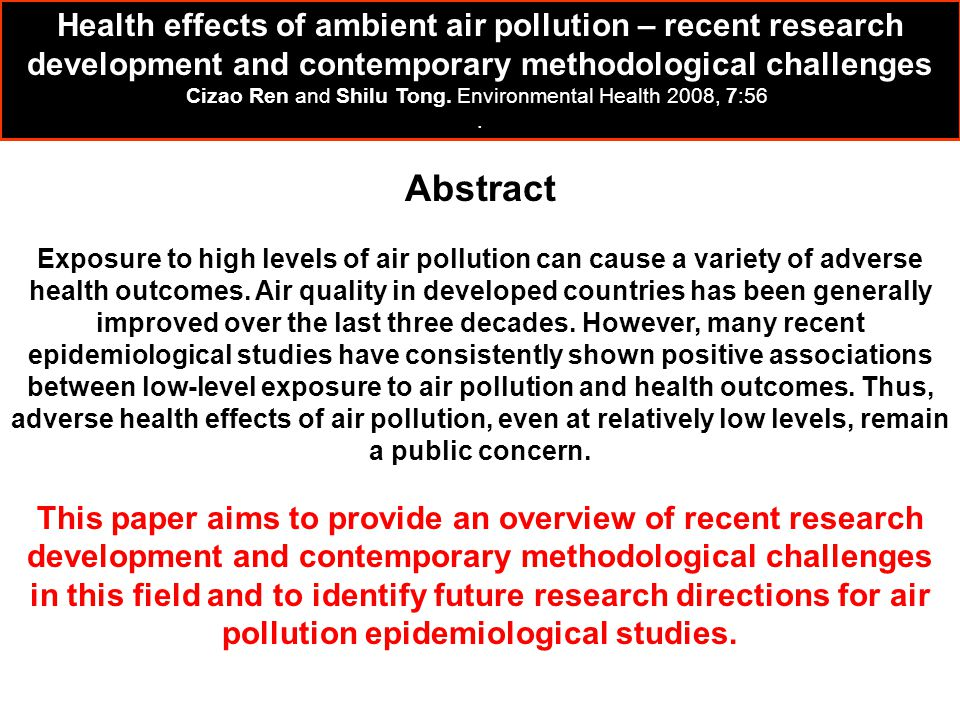 Cizao Ren and Shilu Tong. Environmental Health 2008, 7:56