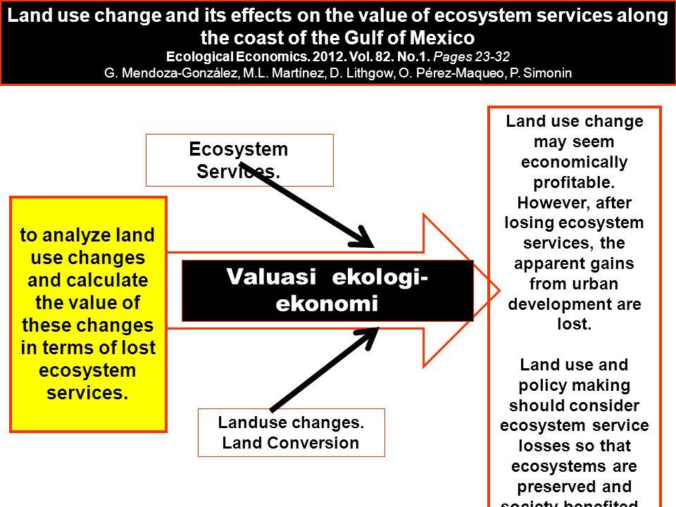 Valuasi ekologi-ekonomi
