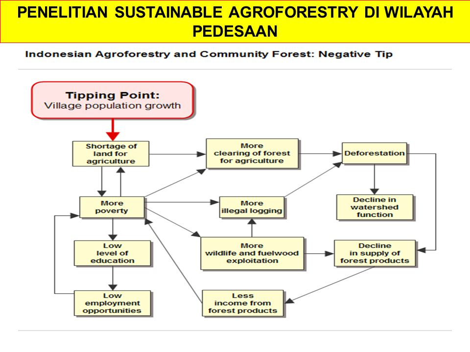 PENELITIAN SUSTAINABLE AGROFORESTRY DI WILAYAH PEDESAAN