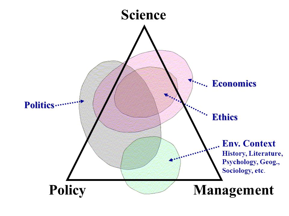 Science Policy Management Economics Politics Ethics Env. Context