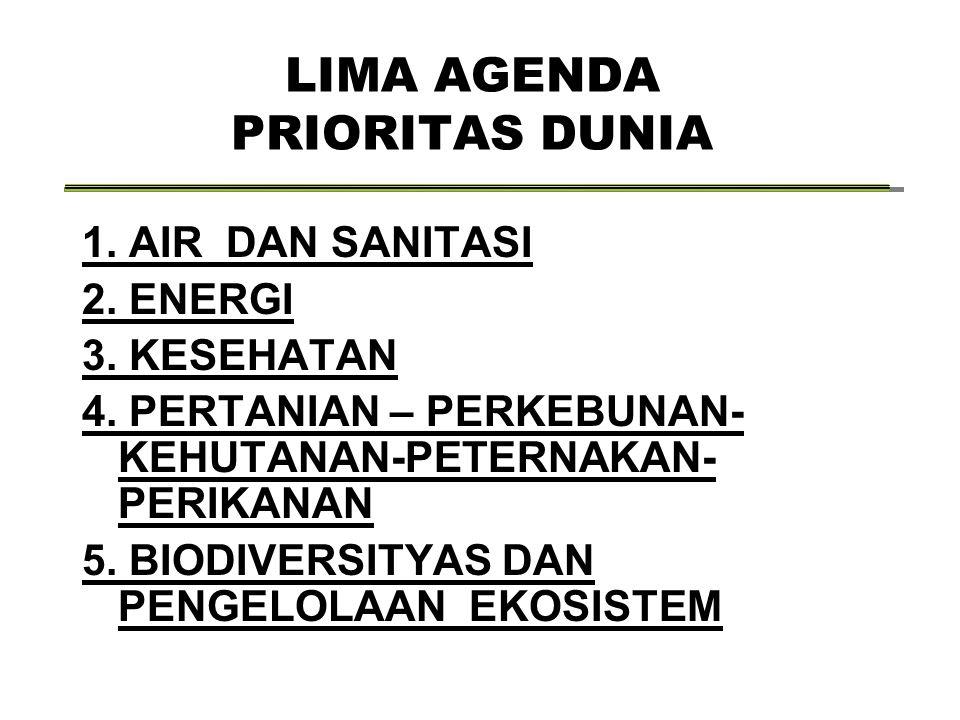 LIMA AGENDA PRIORITAS DUNIA
