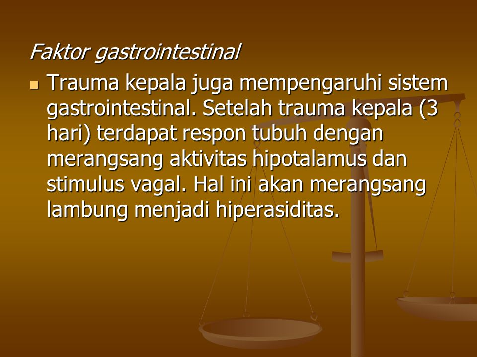 Faktor gastrointestinal