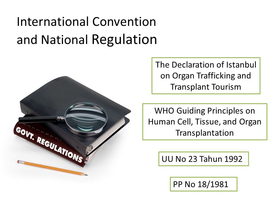 International Convention and National Regulation