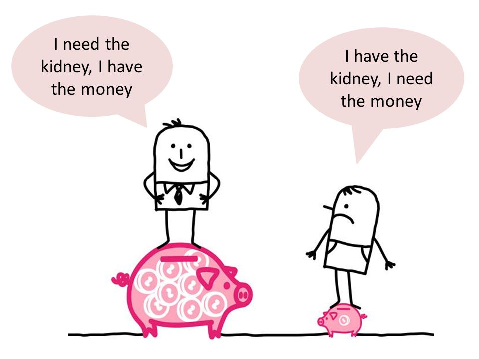 I need the kidney, I have the money