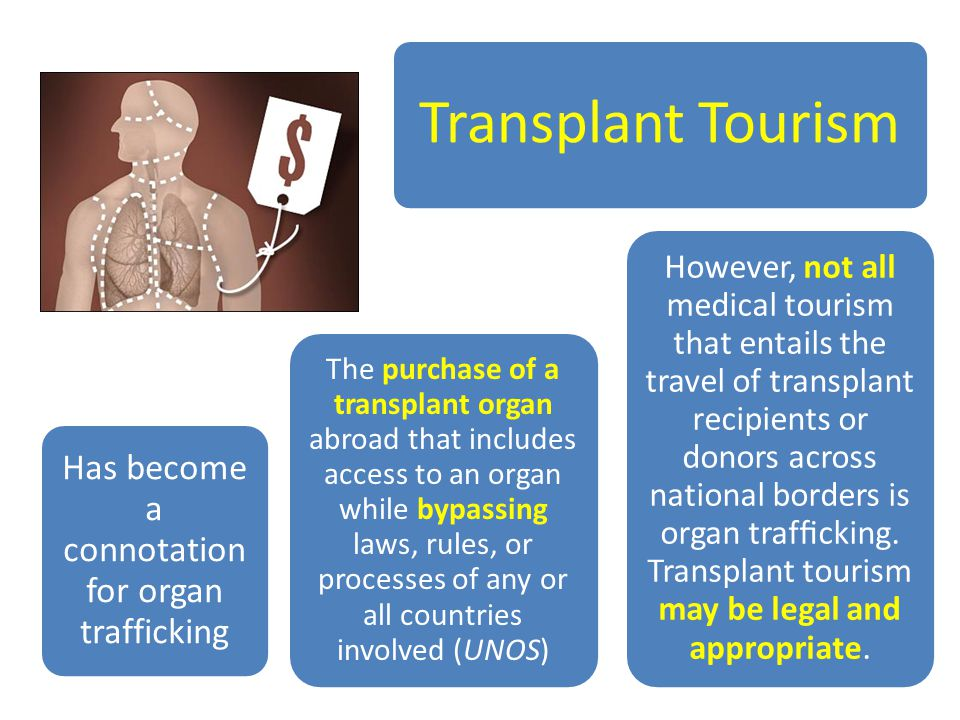 Has become a connotation for organ trafficking