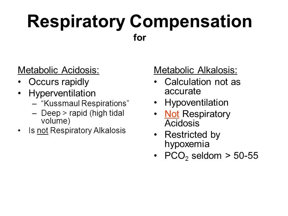 Respiratory Compensation for