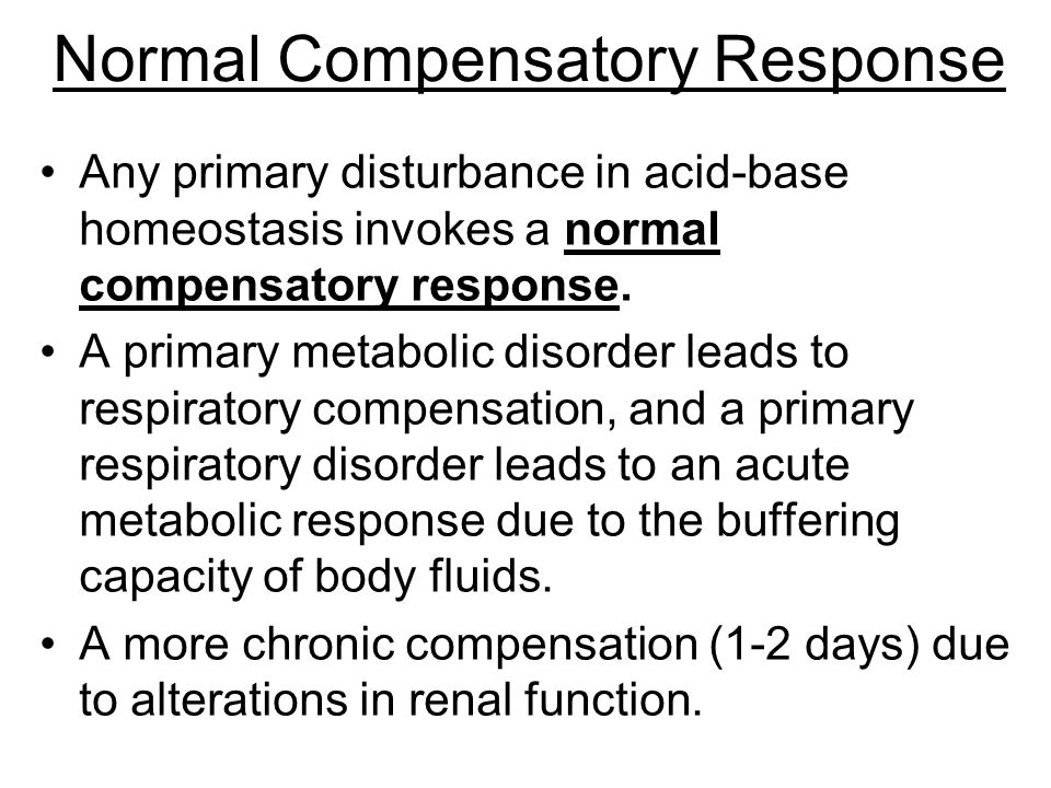 Normal Compensatory Response