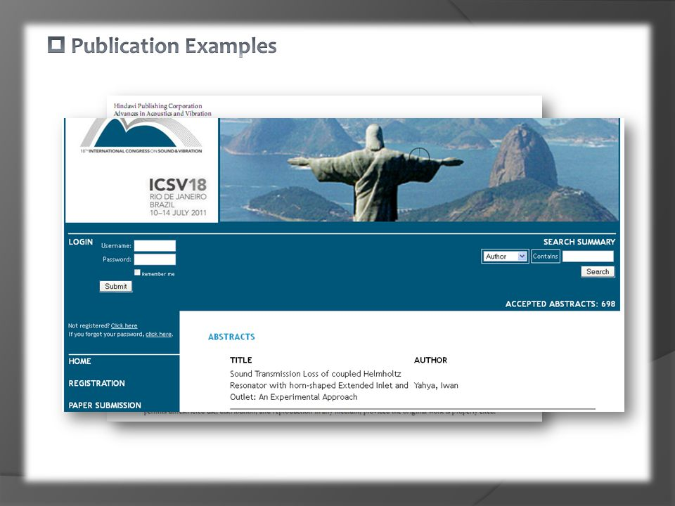  Publication Examples