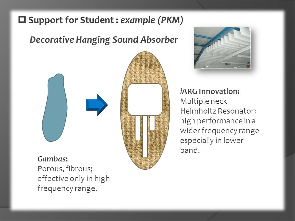  Support for Student : example (PKM)
