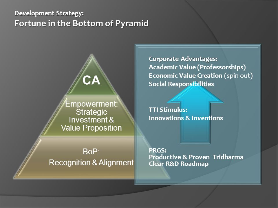 CA Empowerment: Strategic Investment & Value Proposition BoP: