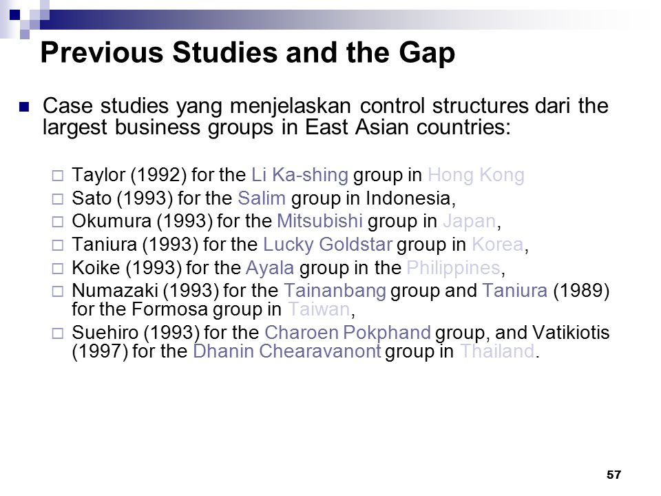 Previous Studies and the Gap