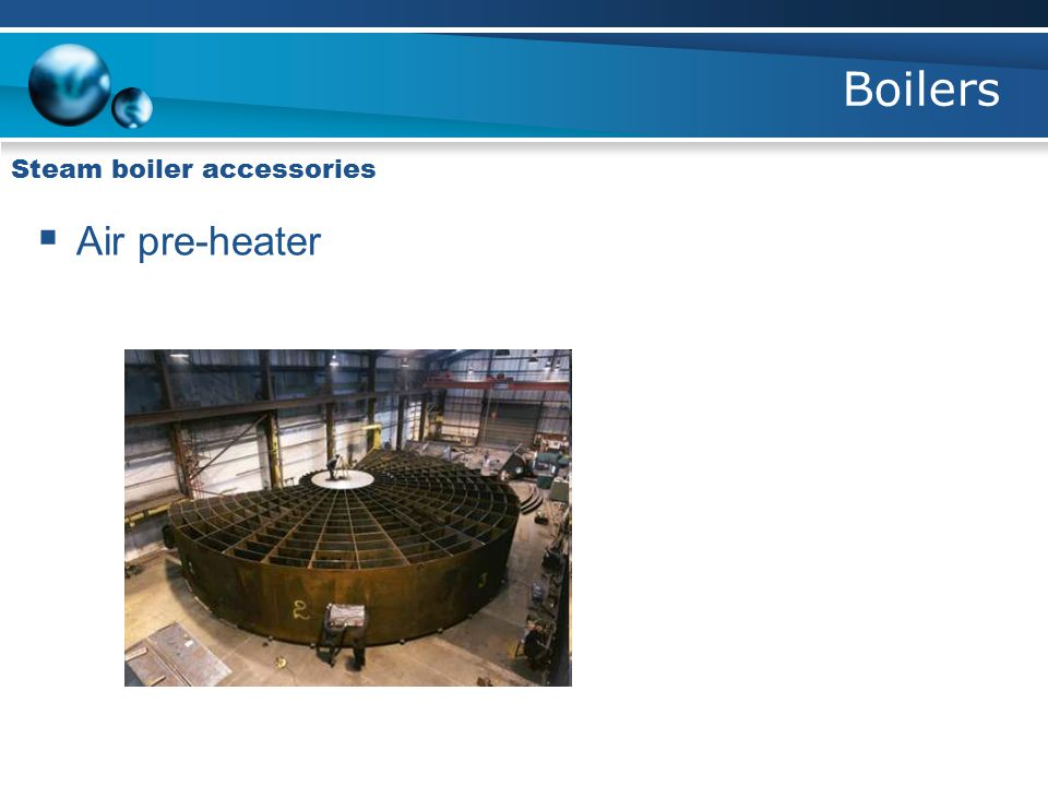 Boilers Steam boiler accessories Air pre-heater