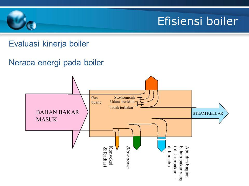 Efisiensi boiler Evaluasi kinerja boiler Neraca energi pada boiler