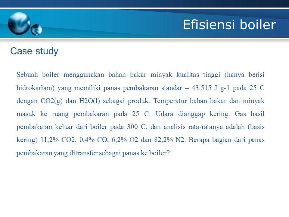 Efisiensi boiler Case study