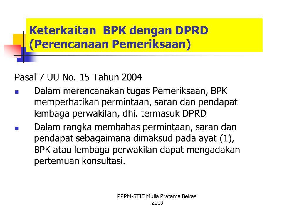 Keterkaitan BPK dengan DPRD (Perencanaan Pemeriksaan)