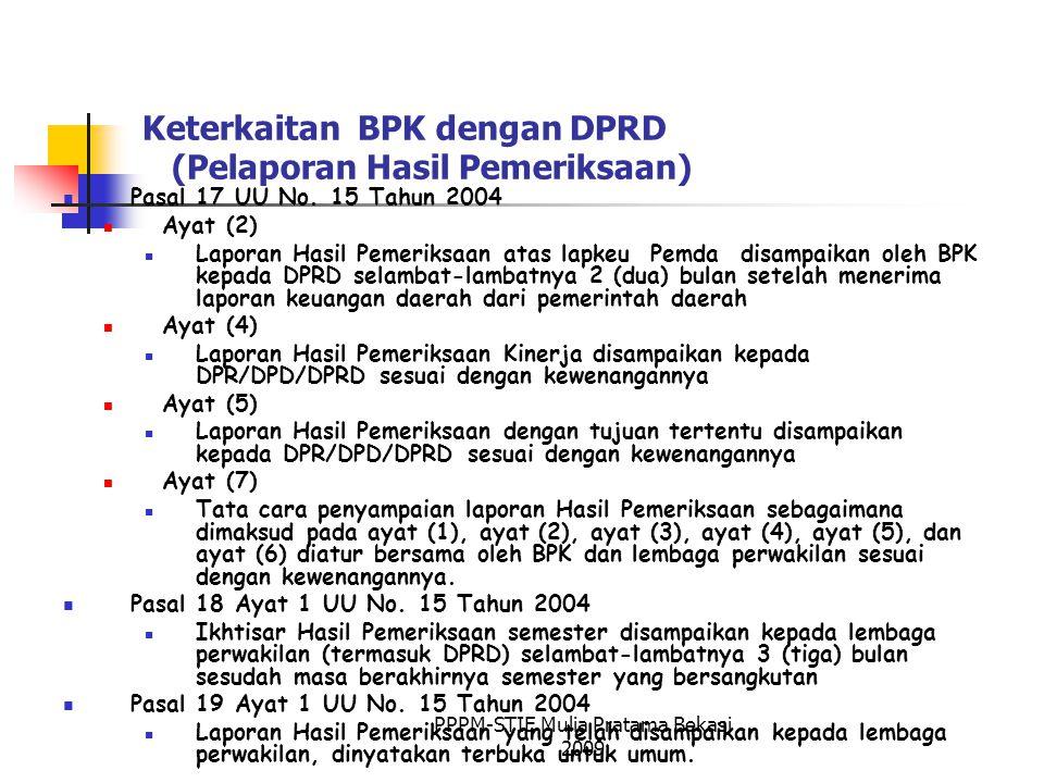 Keterkaitan BPK dengan DPRD (Pelaporan Hasil Pemeriksaan)