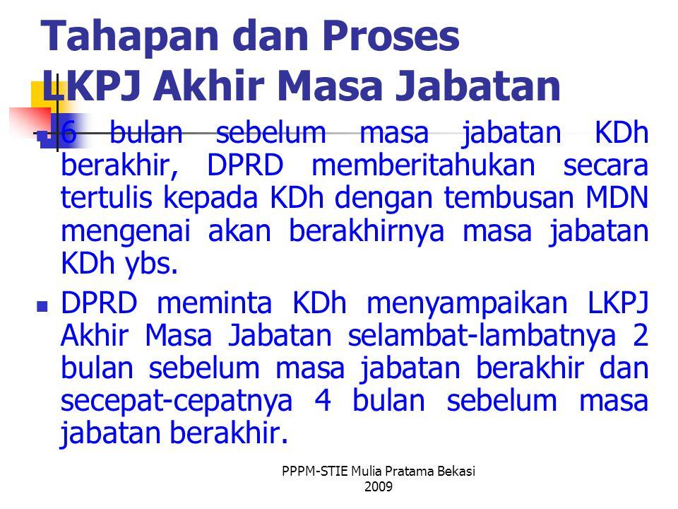 Tahapan dan Proses LKPJ Akhir Masa Jabatan