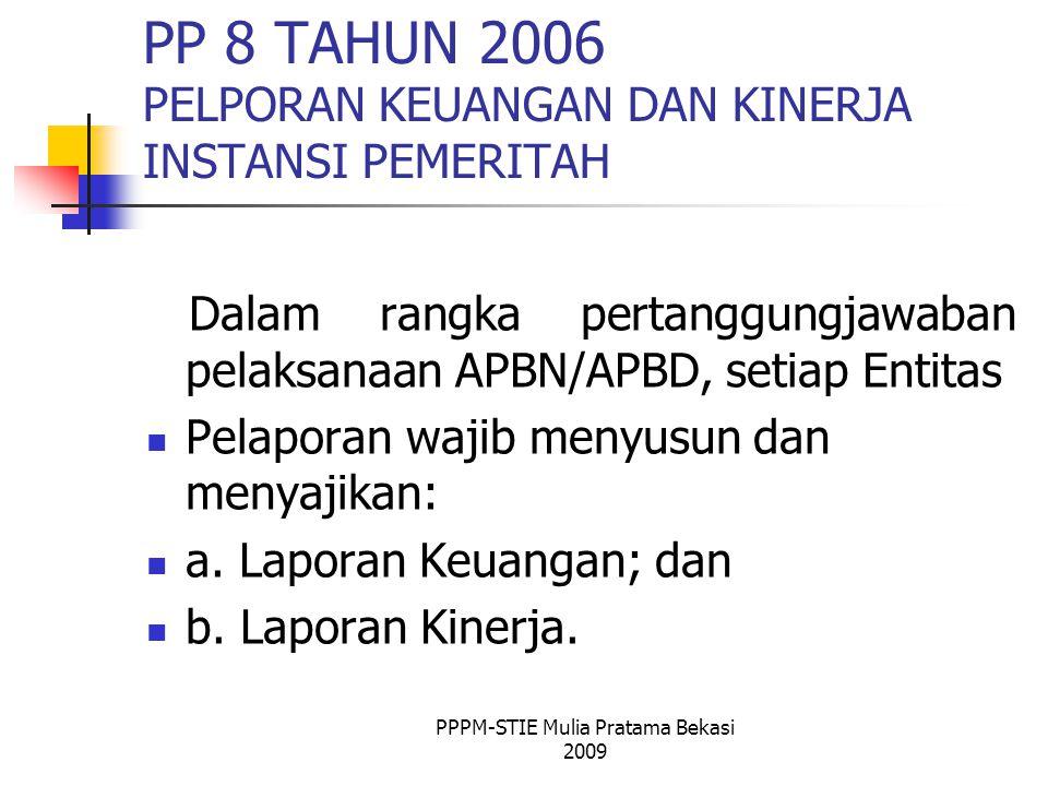 PP 8 TAHUN 2006 PELPORAN KEUANGAN DAN KINERJA INSTANSI PEMERITAH