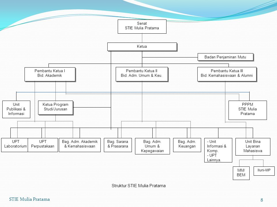 STIE Mulia Pratama Struktur STIE Mulia Pratama Senat