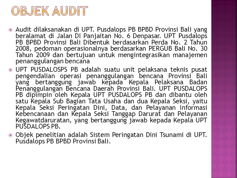OBJEK AUDIT