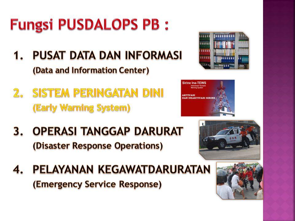 Fungsi PUSDALOPS PB :