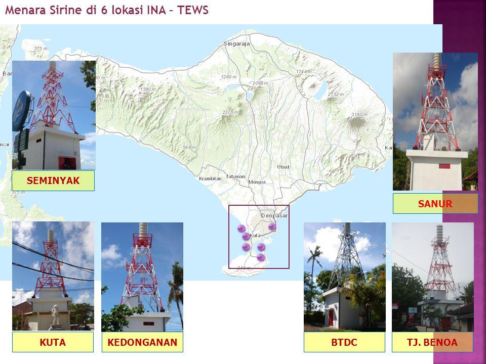 Menara Sirine di 6 lokasi INA – TEWS