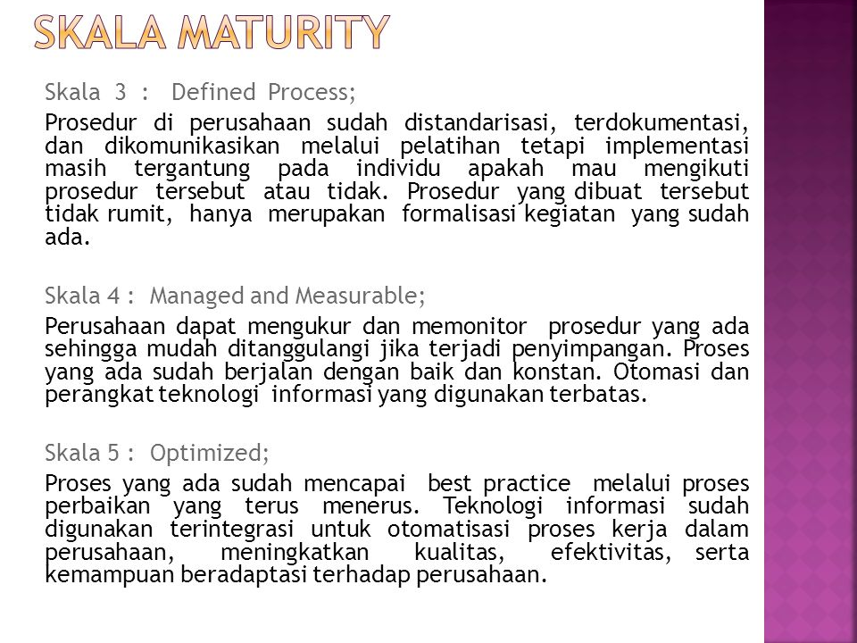 SKALA MaturITY