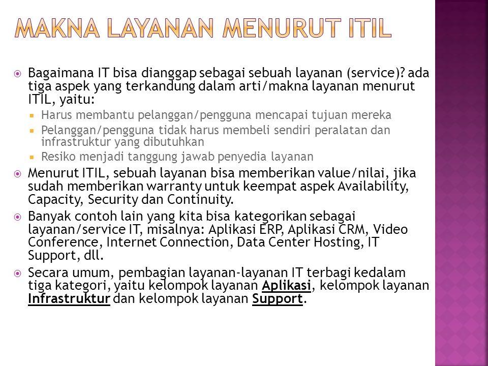 Makna layanan menurut ITIL