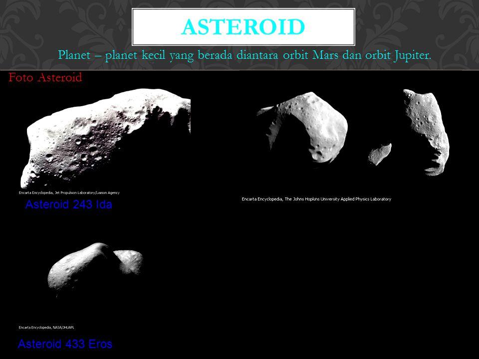 Asteroid Planet – planet kecil yang berada diantara orbit Mars dan orbit Jupiter. Foto Asteroid. Asteroid 243 Ida.