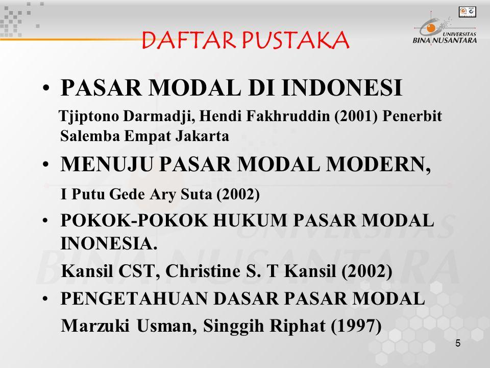 PASAR MODAL DI INDONESI