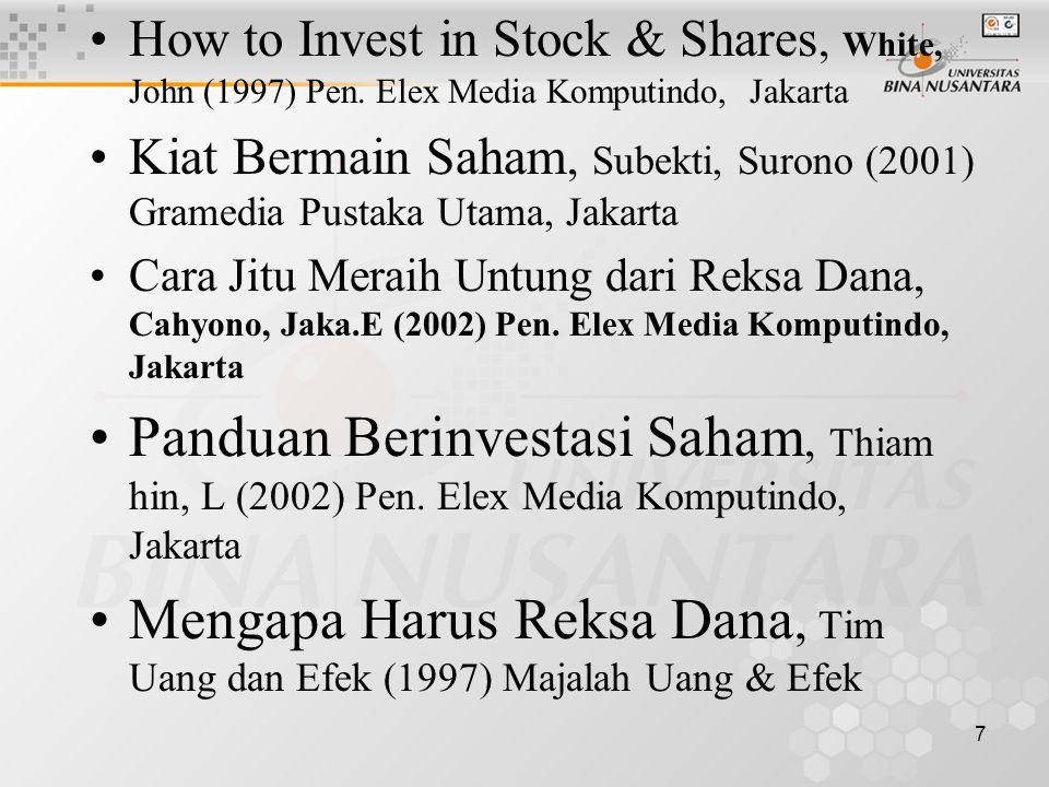 Mengapa Harus Reksa Dana, Tim Uang dan Efek (1997) Majalah Uang & Efek