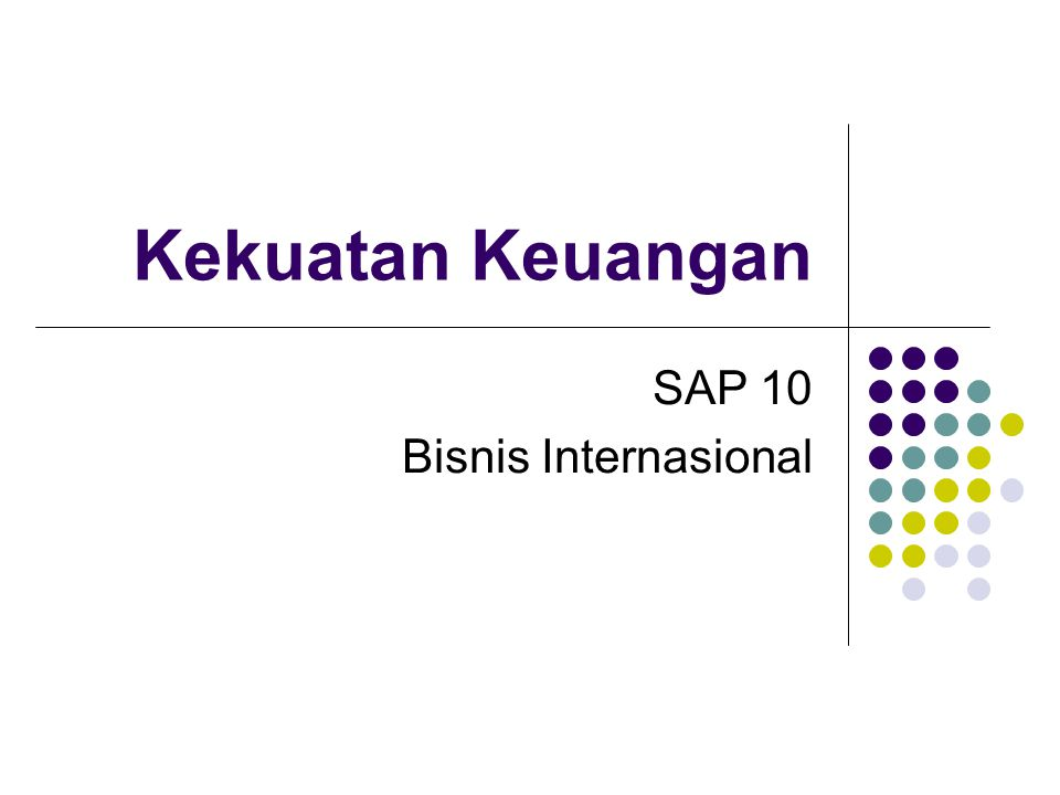 SAP 10 Bis Int 08/09 SAP 10 Bisnis Internasional