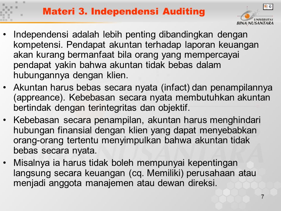 Materi 3. Independensi Auditing