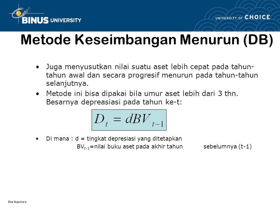 Metode Keseimbangan Menurun (DB)