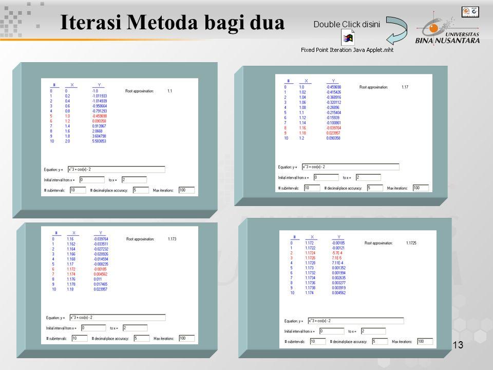 Iterasi Metoda bagi dua