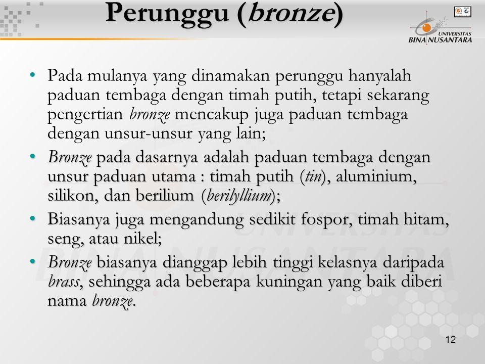Perunggu (bronze)