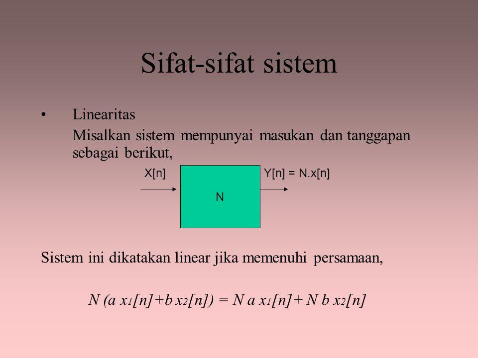 Sifat-sifat sistem Linearitas
