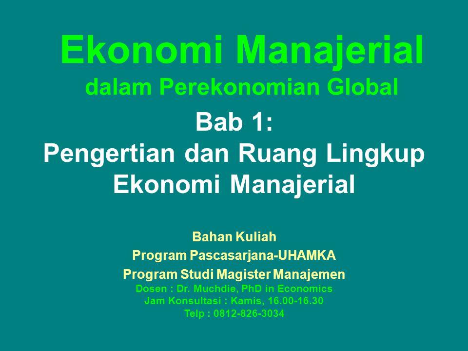 Ekonomi Manajerial dalam Perekonomian Global
