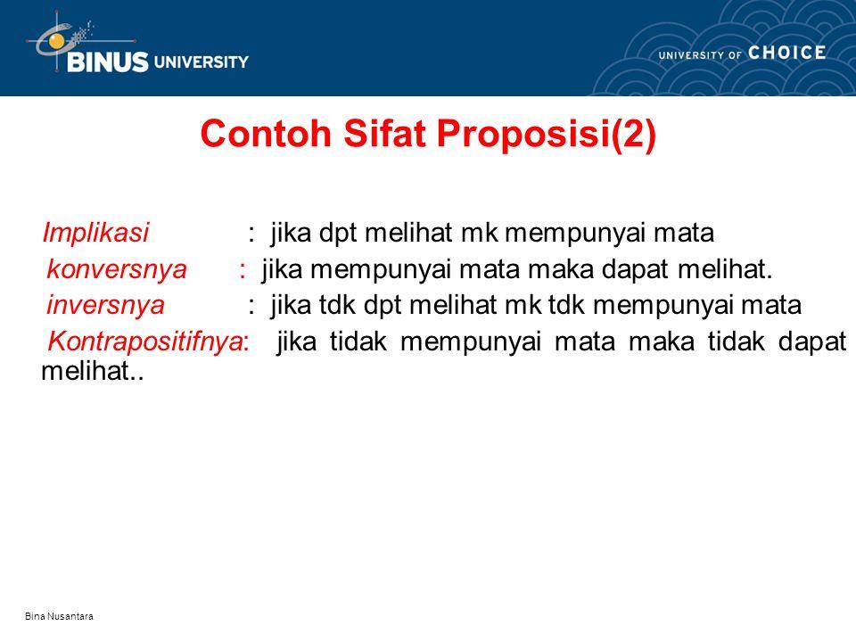 Contoh Sifat Proposisi(2)
