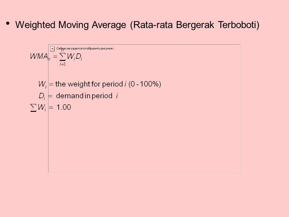  Weighted Moving Average (Rata-rata Bergerak Terboboti)