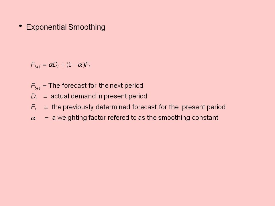  Exponential Smoothing